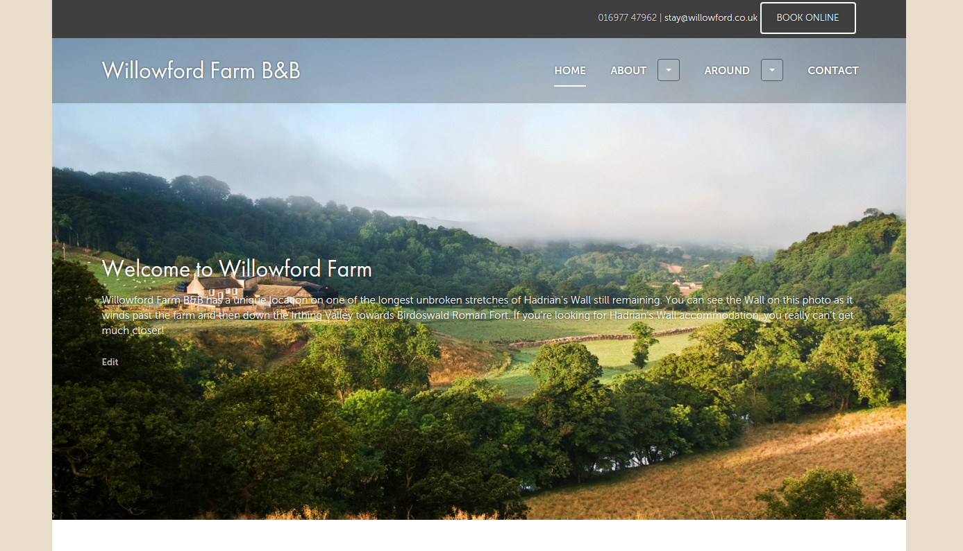 Visit our other property Willowford Farm